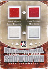 11-12 ITG Yzerman Messier Robinson Bossy /50 Jersey Canada vs The World 2011
