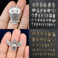 20pcs Mix Owl Pendant Necklace Jewelry Ethnic Style Craft Making DIY Art Decor