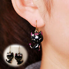 Chic Lady Girls Charming Lovely Cat Alloy Rhinestone Ear Stud EarringWMJ