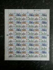 Full Sheet of the 1969 British Cathedrals 5d mint stamps