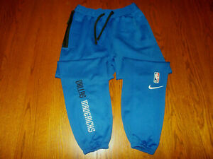 NEW NIKE DRI-FIT NBA DALLAS MAVERICKS BLUE ATHLETIC PANTS MENS MEDIUM
