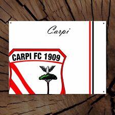 CARPI calcio targa metallo squadra tifoso