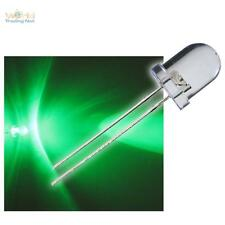 50 LED 8mm VERDE LED Verde & Resistencia zB 12V verte