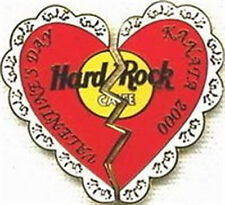 Hard Rock Cafe KANATA CANADA 2000 VALENTINE'S DAY PIN Broken Heart LE 250 Made!