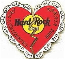 Hard Rock Cafe KANATA CANADA 2000 VALENTINE'S DAY PIN Broken Heart LE 250 Made!