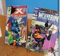 LOT /2 MARVEL COMIC BOOKS WOLVERINE#1 X FACTOR #25 1988
