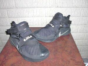 Nike LeBron Soldier 9 IX 776471-001 Black Basketball Shoes Youth US Size 6.5Y