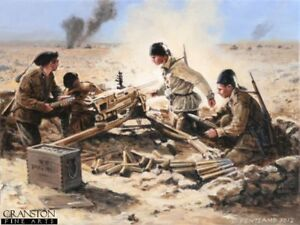 WW2 Military Art Post Card Battle Bir El Gubi N Africa Italian Mussolini's Boys