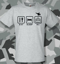 Eat Sleep RC radio controlled Plane t shirt hobbyzone flyzone freewing