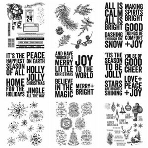 Christmas Sentiment Phrase Silicone/Clear Stamps Diy Scrapbooking Handmade Craft
