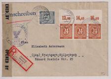 Gemeinsch.Ausg. Mi.925/3er P OR ndgz, R-Amberg, 31.1.47, US-Zensur