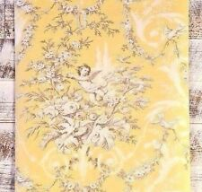 2 ROLL LOT Traditional Victorian Cherub Floral Yellow white tan Wallpaper