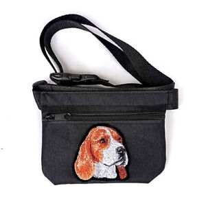Beagle gift - Embroidered Dog treat pouch/bag - for dog shows,training & walking