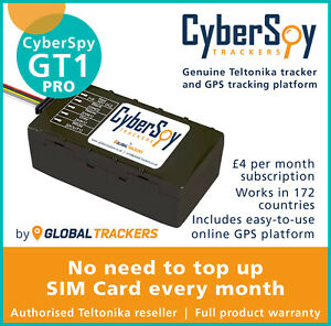 CyberSpy GT1 PRO Tracker New Car Caravan Vehicle GPS Live Tracking Device System