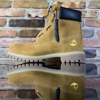 Mens Timberland x DTLR 6-inch Premium Wheat Zip Up Boots Size 9 TB0A1QVJ 231