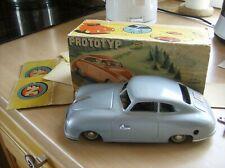 Blechauto Porsche 356 JNF Prototyp/Originalkarton US Zone Tinplate + Box - TOP