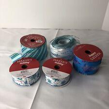 Lof Of 5 Blue Holiday/ X-mas Ribbons