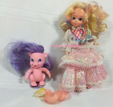 Vintage Lady Lovely Locks Doll Pink Dragon 1986 TCFC Lot Pixie Tails