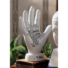 Mystical Victorian Era Palmistry Right Hand Fortune Teller Porcelain Sculpture