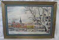 "Landscape ""Winter Stockholm"". Hardboard, oil. Onni Oja (1909-2004)"