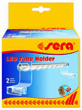 sera LED Tube Holder Clear 2 Stück Acrylglashalterung zur eleganten Befestigung