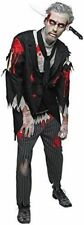 Bloody Zombie Butler Mens Fancy Dress Halloween Horror Adults Costume Outfit XL