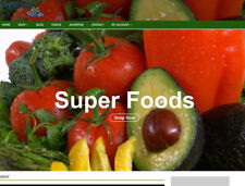 Super Foods Drop shipping Website With Video, Blog, Social,Seo - Work From Home