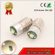 1x LED 3W Miniature E10 3-18V Mini Screw E10 Base Warm White 1446 1449 1487