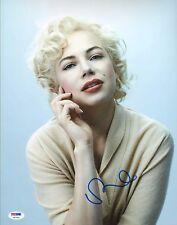 Michelle Williams Signed 11x14 Photo PSA/DNA COA Gem Mint 10 Auto Marilyn Monroe