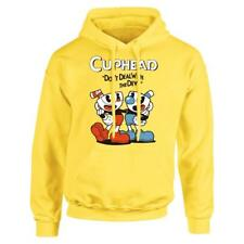 Teacup Cuphead MugmanGame Yellow Cosplay Costume Hooded Sweater Hoodie Jacket