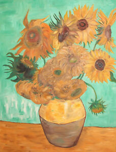 Post Impressionist still life with flowers oil painting signed