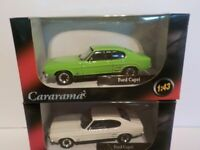 Double Set, Ford Capri X2 Green, White, Metal Model.  Cararama  1/43 Scale Car