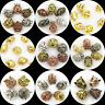 various shape solid metal bracelet necklace connector charm spacer beads DIY