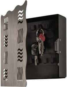 Schlüsselkasten in Edelstahloptik-schwarz Maße (B/T/H) in cm: 22 x 6 x 24