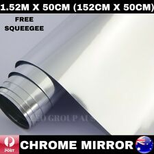 1.52M X 50CM SILVER CHROME MIRROR CAR VINYL WRAP FILM DECAL AIR RELEASE QUALITY