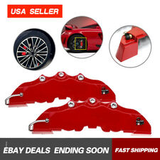 4x RED 3D Style Hot Auto Universal Disc Brake Stop Caliper Covers Front & Rear