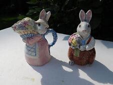 "Fitz & Floyd ""Bunny Hollow"" Cream & Sugar Set 1989 Collection"