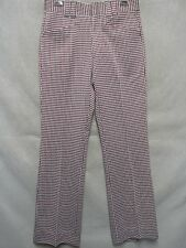 A4953 Ban-Rol  Hounds Tooth Patterned 1970's USA Made NWT Pants 30X31