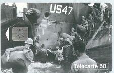 Télécarte carte téléphonique 1944 1994 50 u débarquement