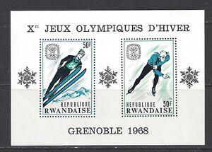 RWANDA - 249 + 249c S/S - MNH - 1968 - GRENOBLE OLYMPICS