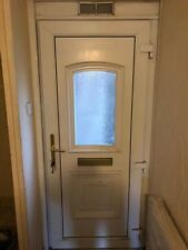 Used upvc front white door Key With Lock And Handle