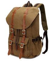 Travel Canvas Sport Rucksack Shoulder Laptop School Camping Hiking Bag Backpack