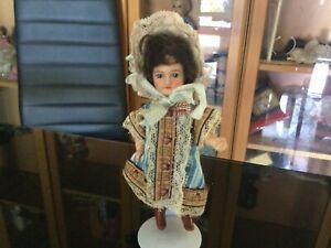 Antique Cabinet Size French Mignonette Bisque head Compo body Doll ca1900s 13cm