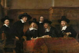 Rembrandt The Syndics Giclee Paper Print Poster Reproduction