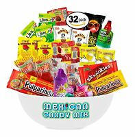 Mexican Candy Assortment Snacks (32 Count), Variety Of Spicy, Sweet, Great Gift