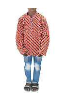 Indian Baby Boy's Shirt Casual Loose Fit Tunic Lahariya Print Party Wear Kurta