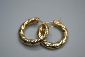 9ct gold twist earrings