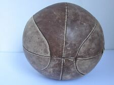 "Vintage  Leather Medicine Ball Boxing Training Large 40"" C & 9.2 lbs."