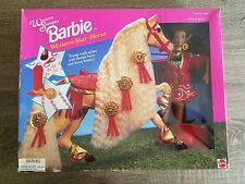 Western Stampin' Barbie with Western Star Horse (African American)(New)