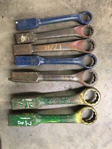 "7 Williams 1-1/16"" - 1-7/8""  Heavy Duty Striking Slug Wrenches 12 Point"